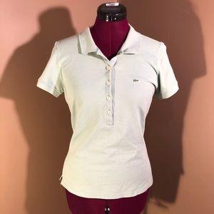 Sz M 40 Lacoste Mint Green Polo Shirt